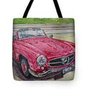 1962 Mercedes Benz 190sl Tote Bag