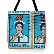 1962 Nursing Stamp Collage - Oakland Ca Postmark Tote Bag