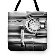 1963 Chevrolet Corvair Monza Spyder Headlight Emblem -0594bw Tote Bag