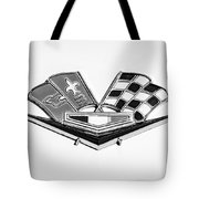 1963 Chevrolet Corvette Split Window Emblem -030bw Tote Bag