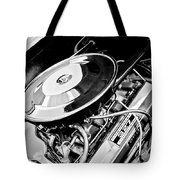 1963 Chevrolet Corvette Split Window Engine -147bw Tote Bag