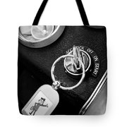 1963 Chevrolet Corvette Split Window - Mr Zip Key Ring -173bw Tote Bag