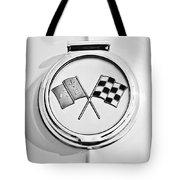 1963 Chevrolet Corvette Split Window - Sting Ray Emblem -257bw Tote Bag