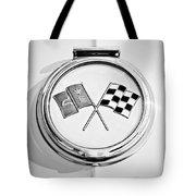 1963 Chevrolet Corvette Split Window - Sting Ray Emblem -257bw2 Tote Bag