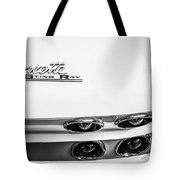 1963 Chevrolet Corvette Split Window Taillight Emblem -458bw Tote Bag