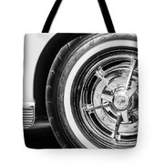 1963 Chevrolet Corvette Split Window Wheel -090bw Tote Bag