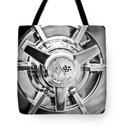 1963 Chevrolet Corvette Split Window Wheel -111bw Tote Bag