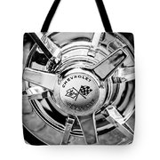1963 Chevrolet Corvette Split Window Wheel Emblem -478bw Tote Bag