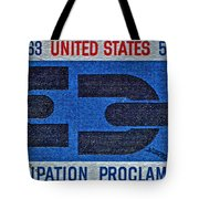 1963 Emancipation Proclamation Stamp Tote Bag