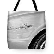 1963 Ford Falcon Sprint Side Emblem Tote Bag by Jill Reger