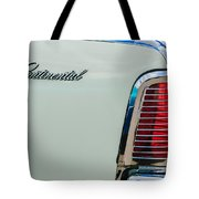 1963 Lincoln Continental Taillight Emblem -0905bw Tote Bag
