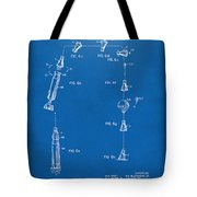 1963 Space Capsule Patent Blueprint Tote Bag