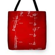 1963 Space Capsule Patent Red Tote Bag