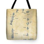 1963 Space Capsule Patent Vintage Tote Bag
