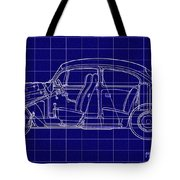 1963 Volkswagon Beetle Blueprint Tote Bag