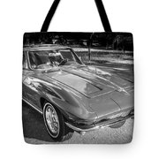 1964 Chevy Corvette Coupe Bw Tote Bag