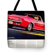 1964 - Ford Mustang Convertible - Advertisement - Color Tote Bag