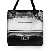 1964 Ford Thunderbird Painted Bw Tote Bag