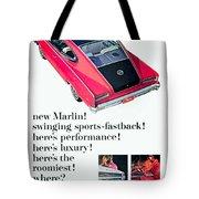 1965 - Rambler Marlin - Automobile Advertisement - Color Tote Bag