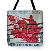 1965 Battle Of New Orleans Stamp Tote Bag