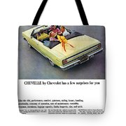 1965 Chevelle Convertible Tote Bag