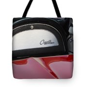 1965 Chevrolet Corvette Dashboard Emblem Tote Bag