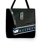 1965 Ford Mustang Gt Convertible Emblem Tote Bag