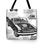 1965 Ford Mustang Performance Kits Tote Bag
