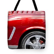 1965 Ford Mustang Really Red Tote Bag