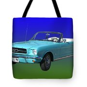 1965 Mustang Convertible Tote Bag