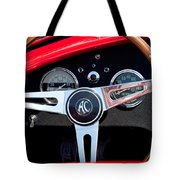 1965 Shelby Ac Cobra Roadster 289 Steering Wheel Emblem Tote Bag