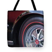 1965 Shelby Prototype Ford Mustang Wheel And Emblem Tote Bag