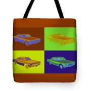 1966 Chevrolet Caprice 427 Muscle Car Pop Art Tote Bag
