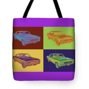 1966 Chevy Chevelle Ss 396 Car Pop Art Tote Bag