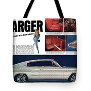 1966 Dodge Charger - New Leader Of The Dodge Rebellion Tote Bag