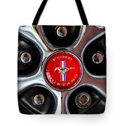 1966 Ford Mustang Gt Wheel Emblem Tote Bag