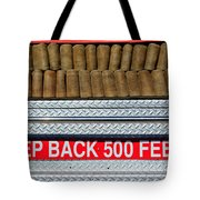 1966 Ford Young Fire Engine Tote Bag by Jill Reger
