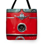 1966 International Harvester Pumping Ladder Fire Truck - 549 Ford Gas Motor Tote Bag