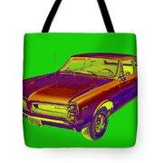 1966 Pointiac Lemans Car Pop Art Tote Bag