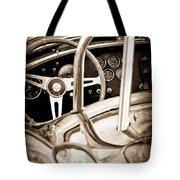 1966 Shelby 427 Cobra Steering Wheel Emblem Tote Bag