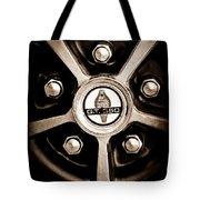 1966 Shelby Cobra Gt350 Wheel Rim Emblem Tote Bag