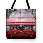 1967 Alfa Romeo Gtv Watercolor Tote Bag