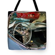 1967 Blue Corvette-interior And Wheel Tote Bag