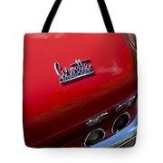 1967 Chevrolet Corvette Taillight Emblem Tote Bag