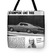 1967 Dodge Charger Tote Bag