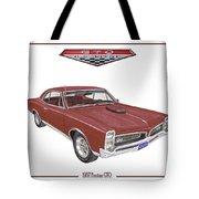 1967 G T O Pontiac Tote Bag