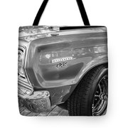 1967 Plymouth Belvedere Gtx 440 Painted Bw   Tote Bag