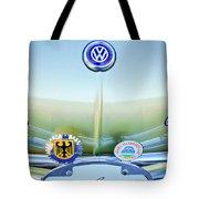 1967 Volkswagen Vw Karmann Ghia Hood Emblem Tote Bag