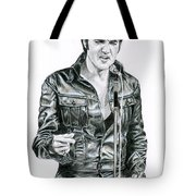 1968 Black Leather Suit Tote Bag