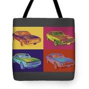 1968 Chevrolet Camaro 327 Muscle Car Pop Art Tote Bag